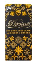 Divine Fairtrade Chocolate With Orange & Ginger 100g